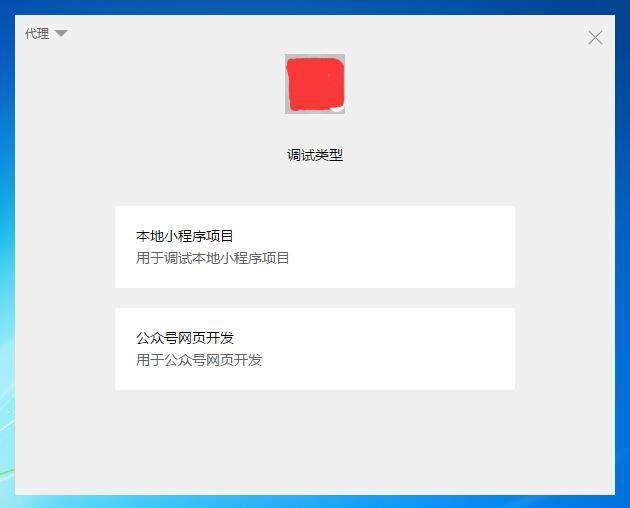 微信小程序开发工具调试类型