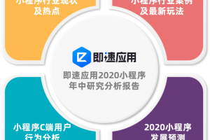 《即速应用2020小程序年中研究分析报告》